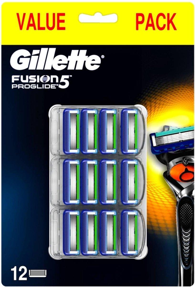 Gillette Fusion ProGlide scheermesjes 12 stuks voor €6,99 @ Bol.com
