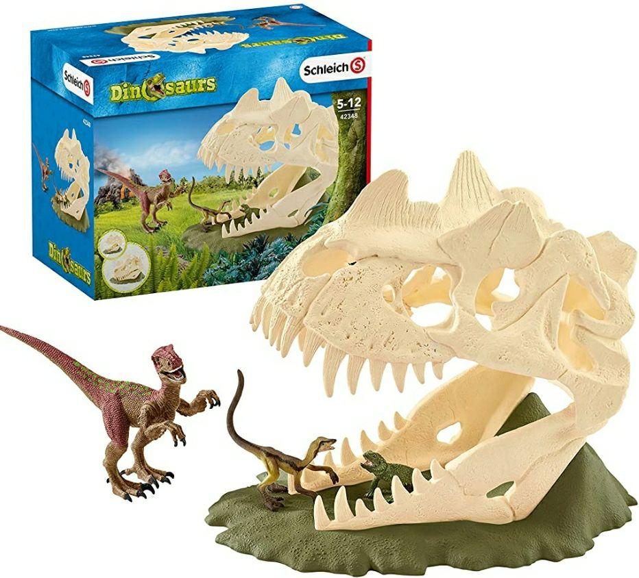 Schleich 42348 dinosaurs speelset - grote schedelval met velociraptor