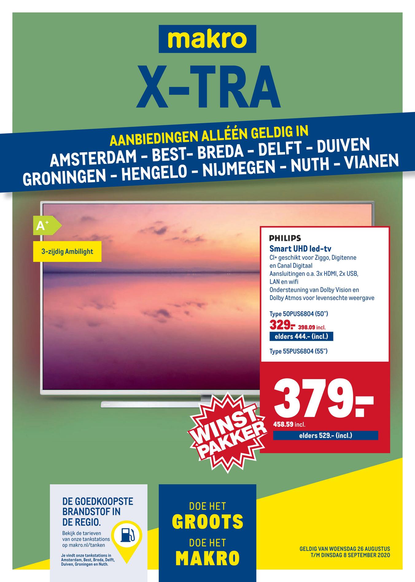 Philips 55PUS6804/12 - 4K tv @ Makro