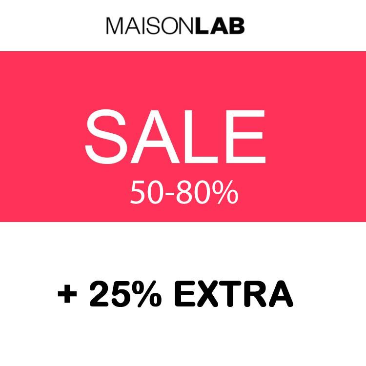 SALE tot -80% + 25% EXTRA @ Maison Lab