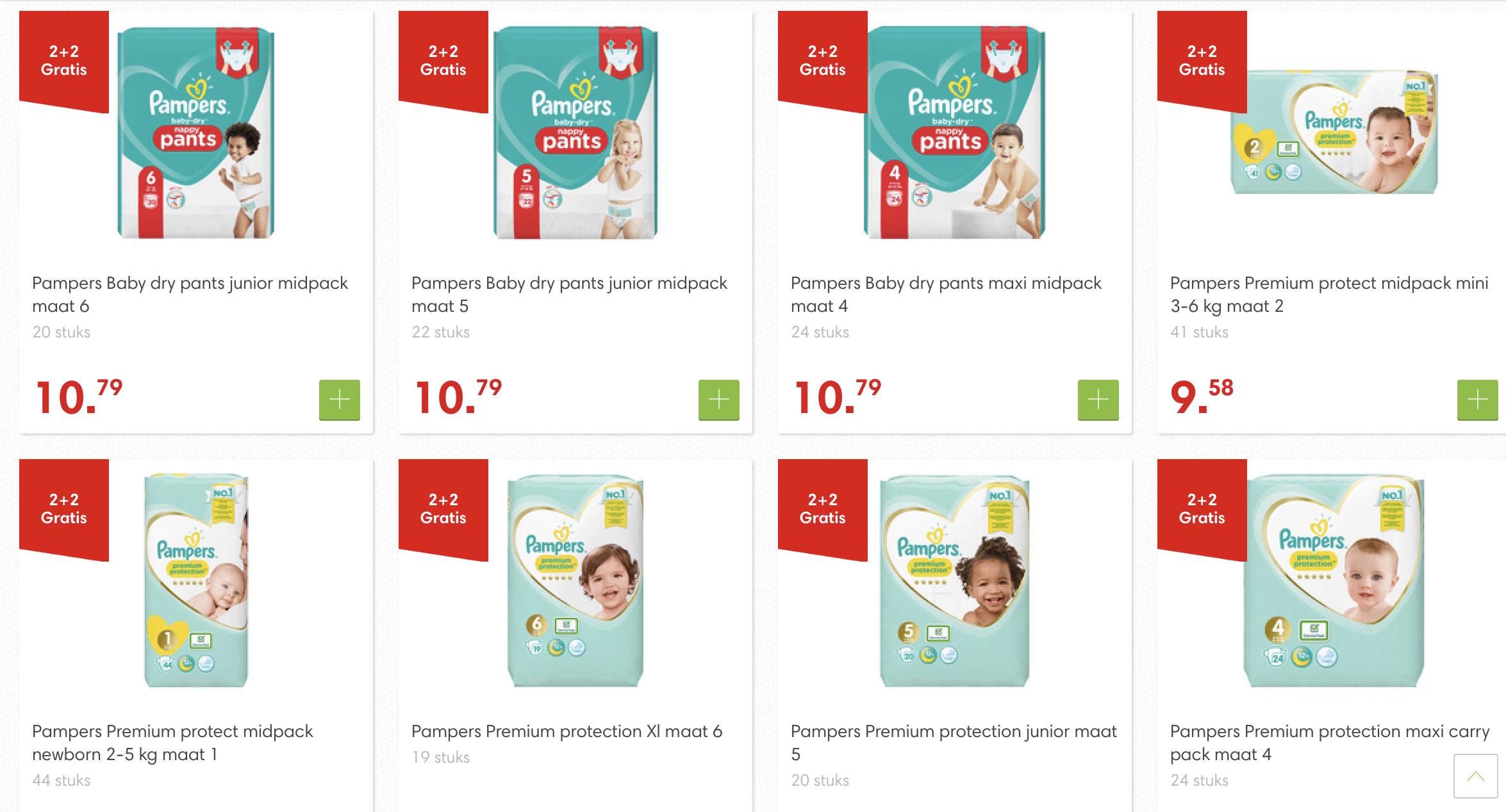 [Dekamarkt] Pampers 2+2 gratis op Dry pants Premium Protection