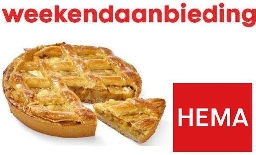 Weekendaanbieding 2 Appeltaarten (voor 8 pers. per taart) @ Hema