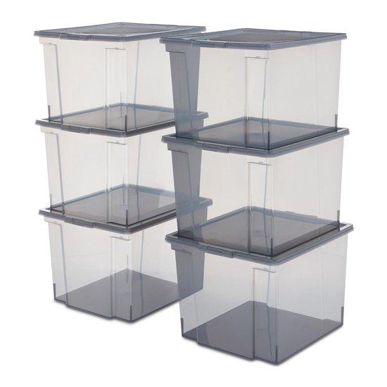 Iris Ohyama Useful Storage Box opbergbox 30L (6 stuks) @ Bol.com