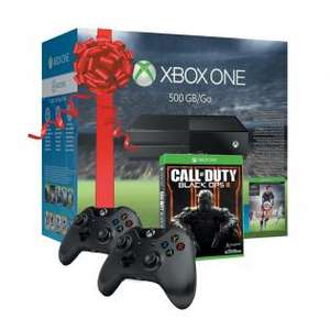 Xbox One (500 GB) + 2x controller + Call of Duty: Black Ops 3+ Fifa 16 voor €340 @ Redoon