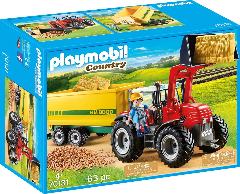 Playmobil 70131 Grote Tractor Met Aanhangwagen voor €19,81 @ amazon.nl
