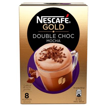 3 doosjes Nescafé, bijvoorbeeld 3 doosjes Gold double choc mocha Oploskoffie (8 sachets) @ PLUS