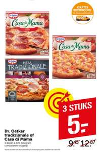 3 pizza's Dr. Oetker tradizionale of Casa di Mama voor €5 @ Coop