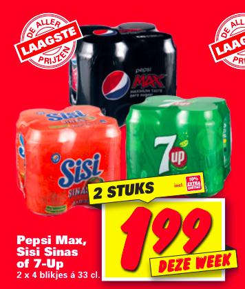 [Nettorama] Pepsi Max 8 blikken voor €1,99