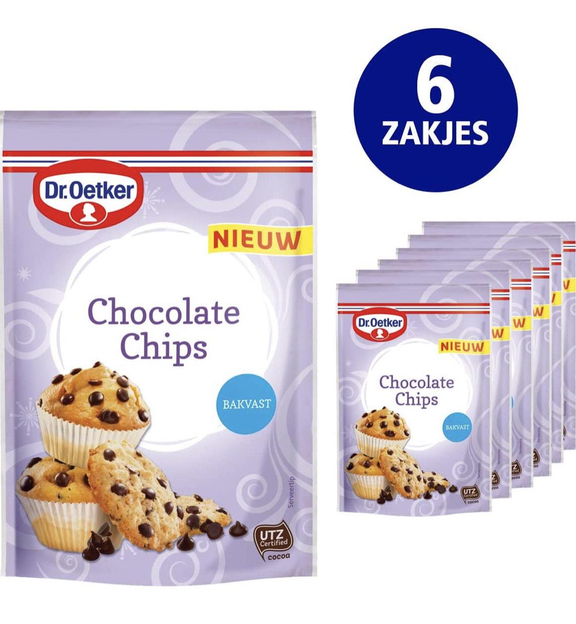 Dr. Oetker Chocolate Chips (6x 100g multipack voor de prijs van 1)