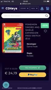 Pokemon Sword and Shield expansion pass Nintendo Switch