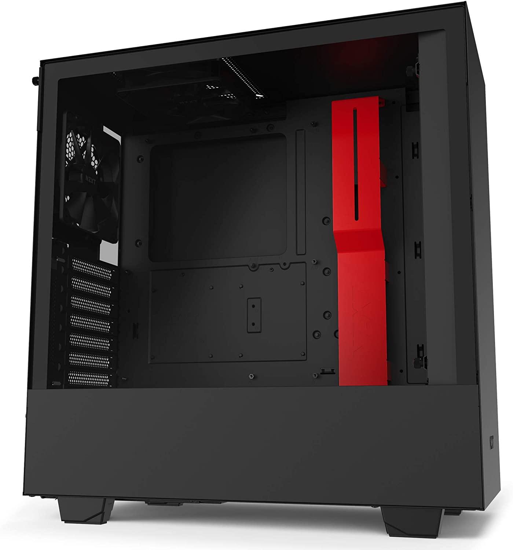 NZXT H510 behuizing (Zwart / rood)