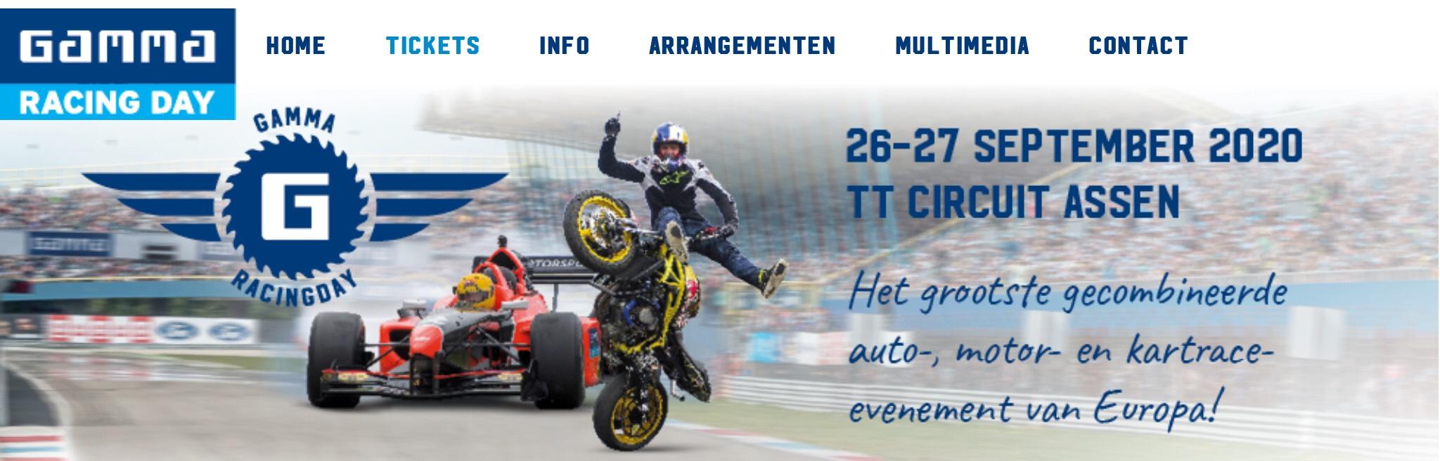 Toegang Gamma Racing Day t.w.v. € 12,- voor € 1,-