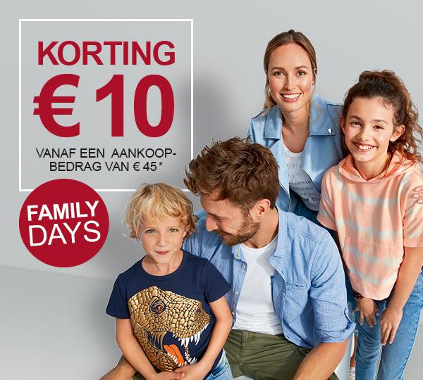 Family Days - €10 korting bij een minimale besteding van €45