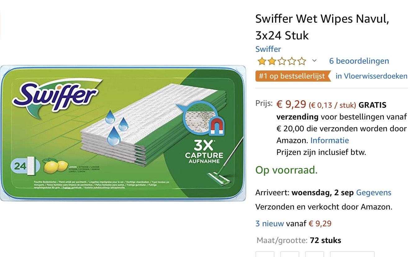 Swiffer wet 3x24 stuks [72 stuks] @ Amazon.nl