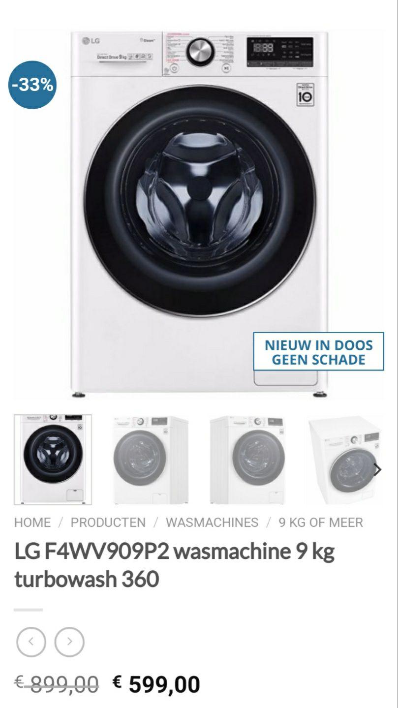 Wasmachine LG F4WV909P2