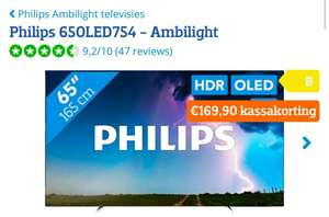 "Philips 65"" OLED Ambilight (Philips 65OLED754) @ Coolblue"