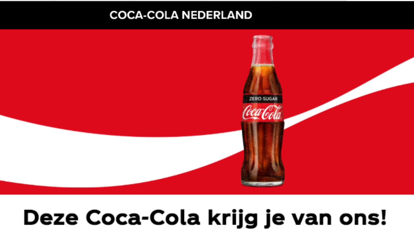 Gratis coca-cola bij deelnemende horecazaak