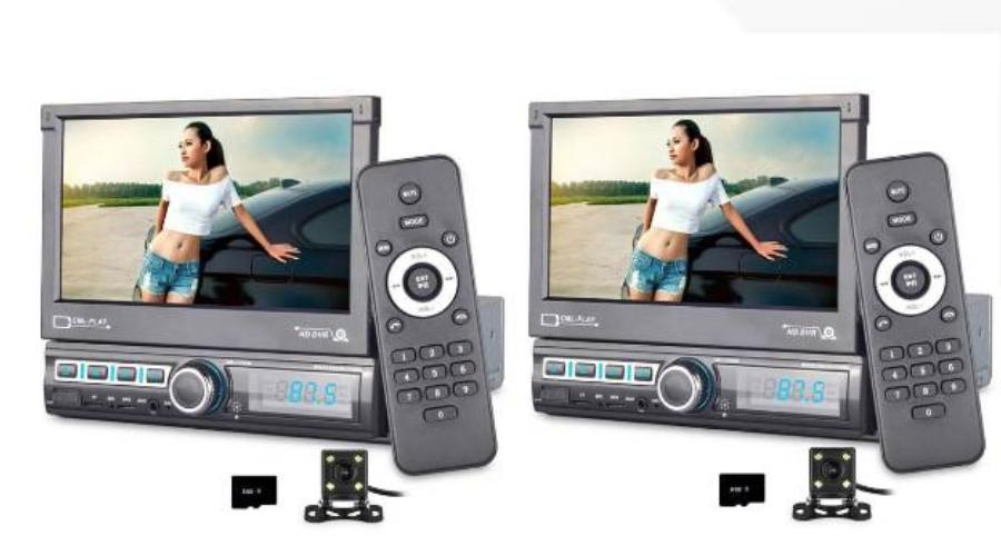 PRIJSFOUT 2x 1-Din Car Player Electric Retractable Screen Radio Stereo MP5 Player