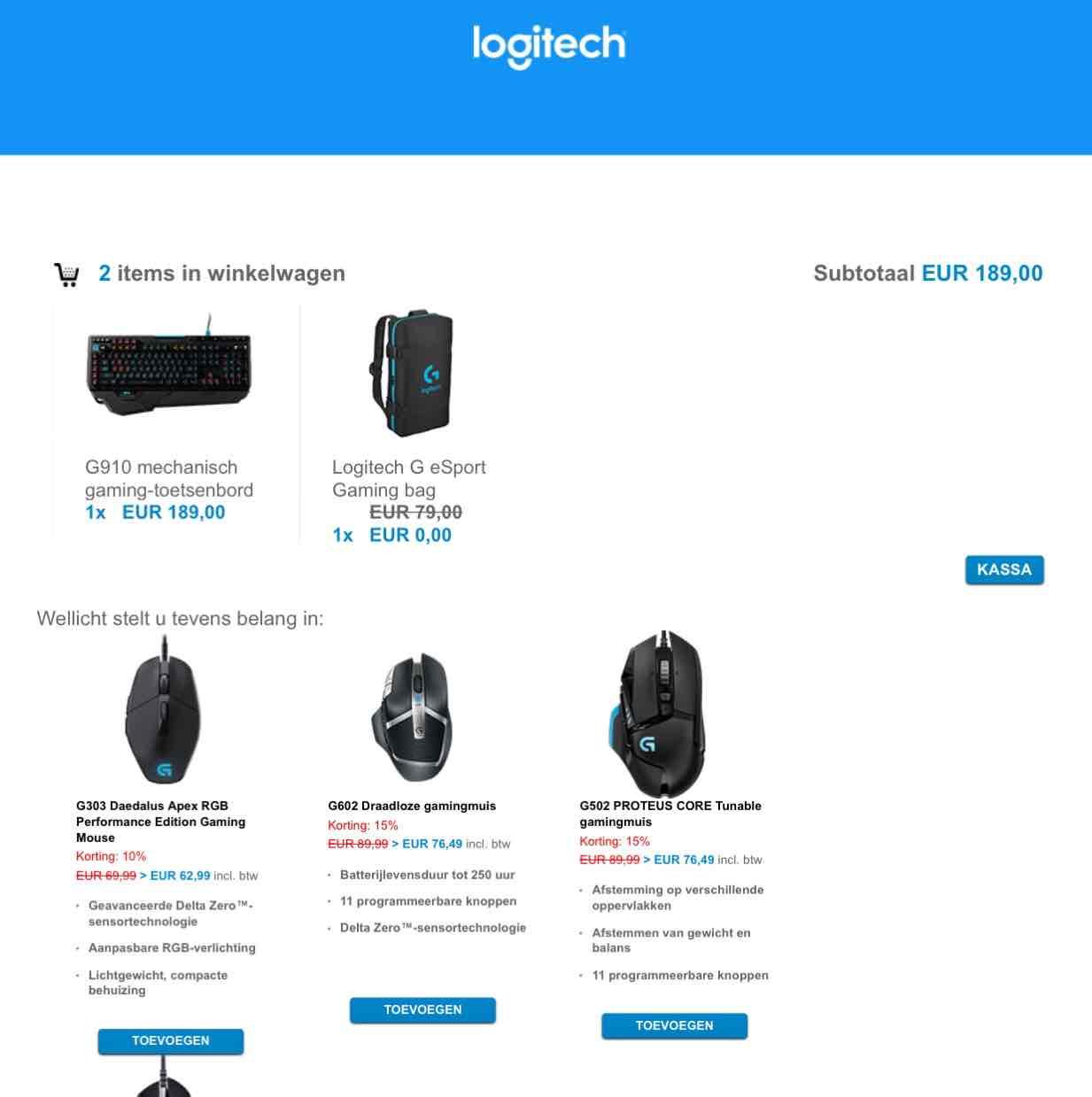 Gratis Logitech G eSport gaming bag bij aanschaf van een gaming toetsenbord(G910 of G410)