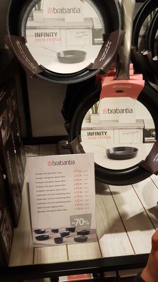 Brabantia Infinity - meerdere producten tot 70% korting @PLUS