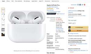 Airpods Pro 199 euro bij Amazon.de