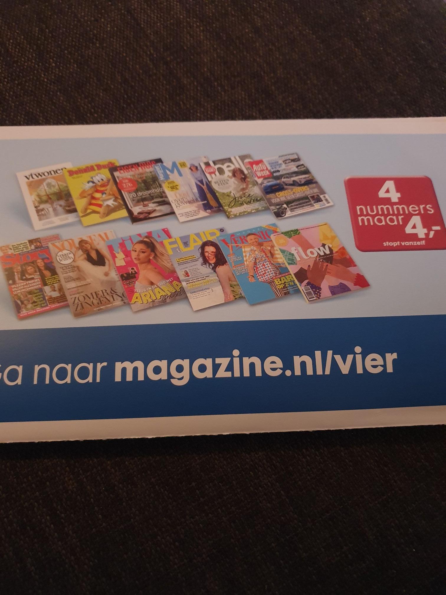 Verschillende magazines o.a. Vtwonen en Donald duck 4 nummers voor €4