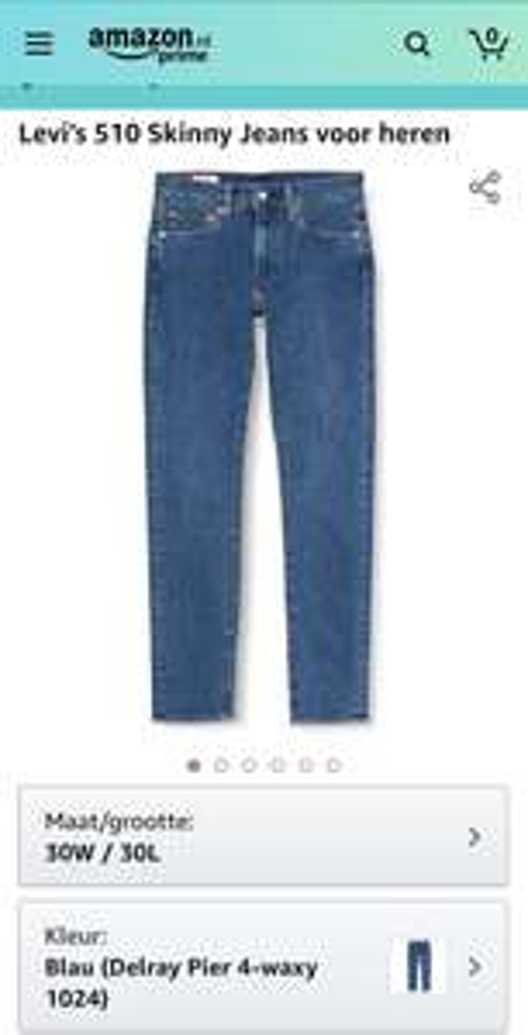 Levi's 510 skinny jeans heren