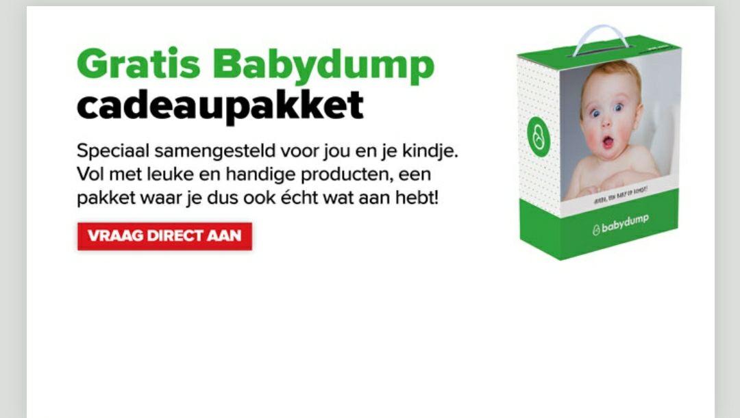 Gratis cadeaupakket bij Baby-dump