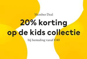 Kindermode en -kamer 20% korting [va €40 - members] @ H&M