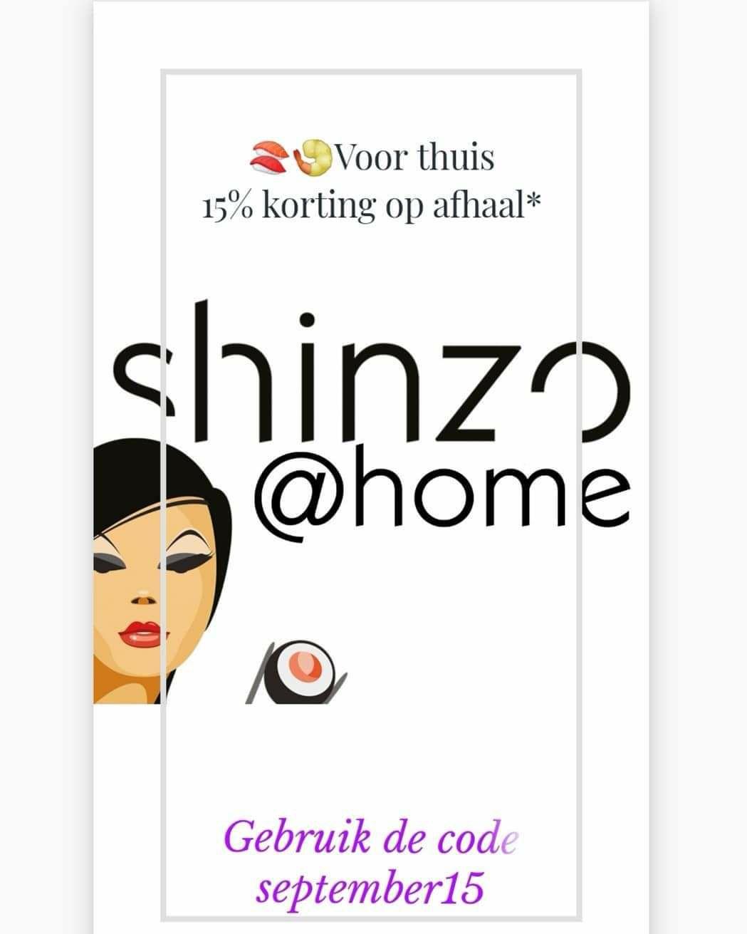 Shinzo Sushi, gehele maand september 15% korting (bij afhalen) [Lokaal, Tilburg]