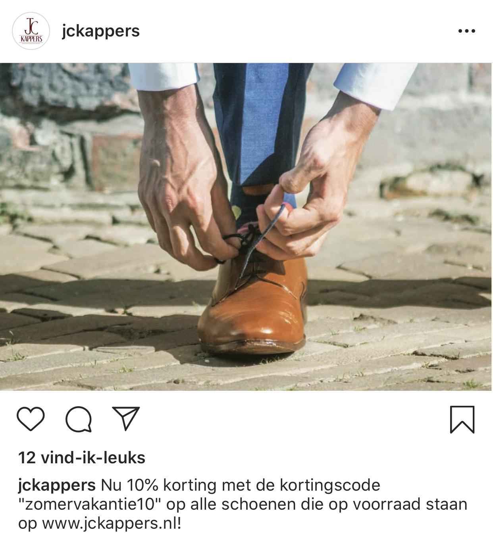 10% korting op handgemaakte herenschoenen uit voorraad