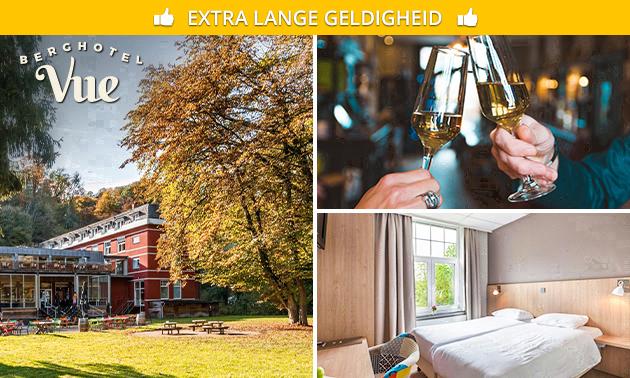 5 Berghotel Vue Deals - o.a. Hotelovernachting + ontbijt of diner voor 2
