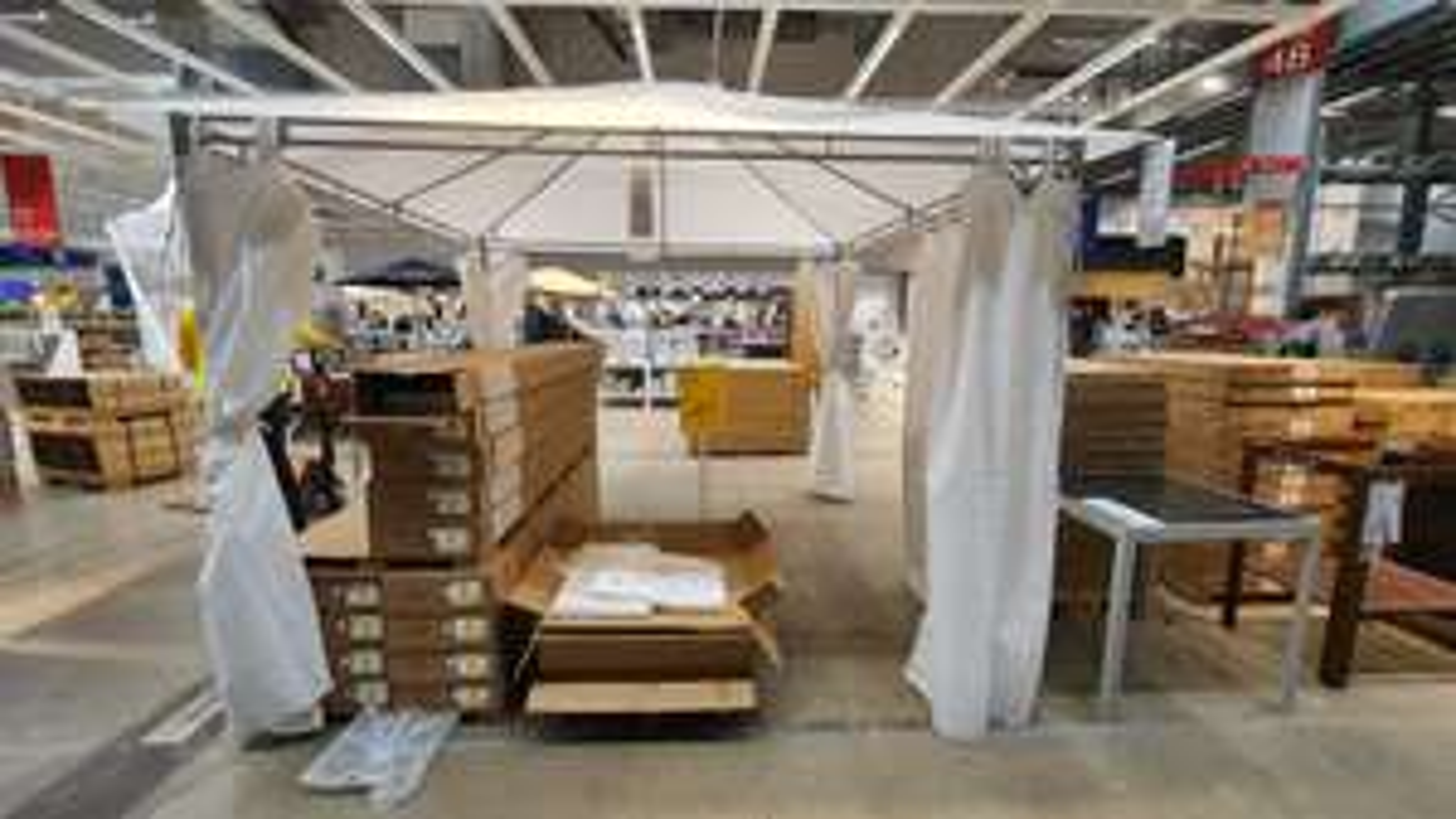 (Lokaal) Ikea Delft Karlsö partytent 300 x 300 cm wit (set)
