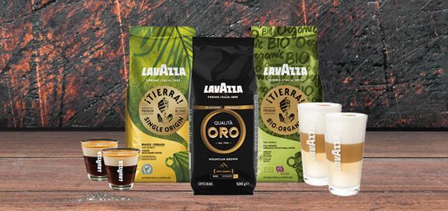 Lavazza Koffiepakket (1,5 kg) met 4 glazen. Inclusief gratis verzending!