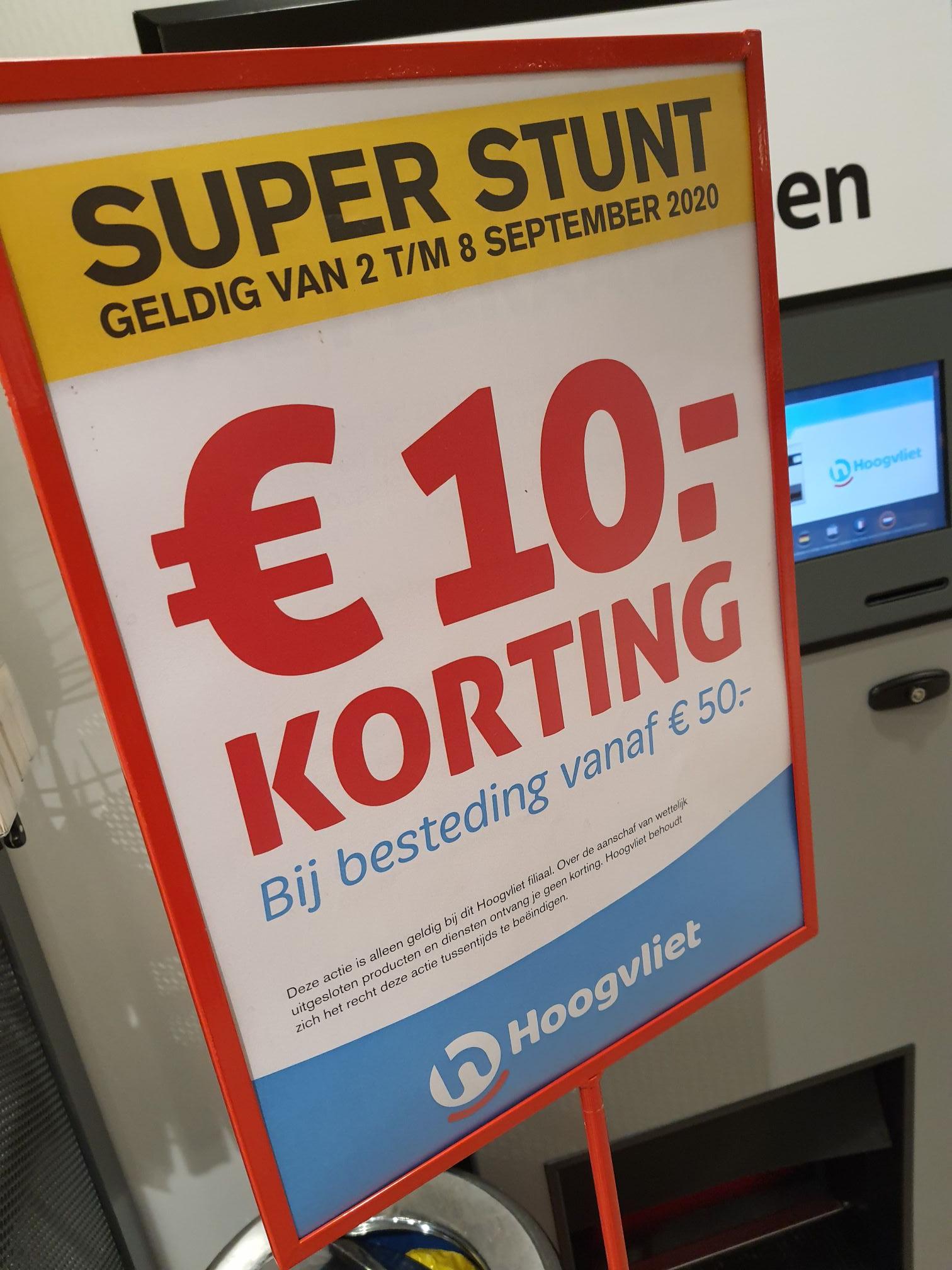 [lokaal?] 10 euro korting bij je boodschappen @ Hoogvliet