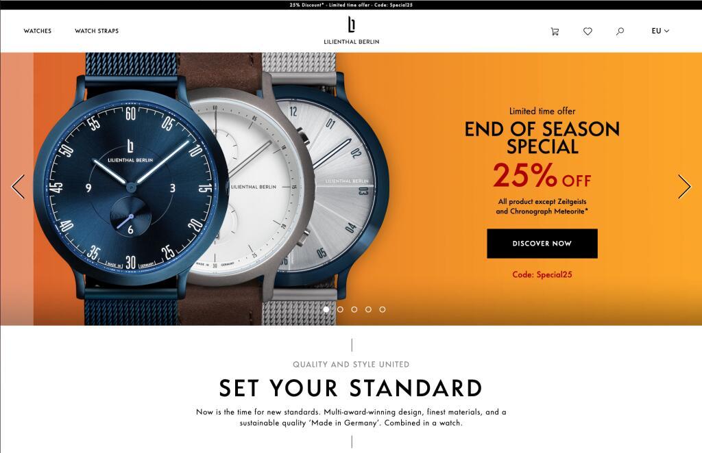 Lilienthal Berlin horloges nu tijdelijk met 20 of 25% korting