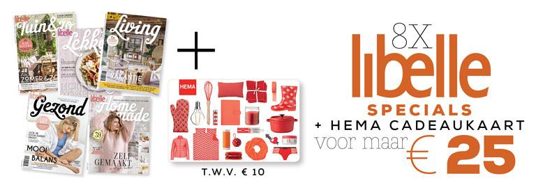 Gratis HEMA cadeaukaart bij Libelle Specials + 44% korting + cashbackXL van 8,75€!