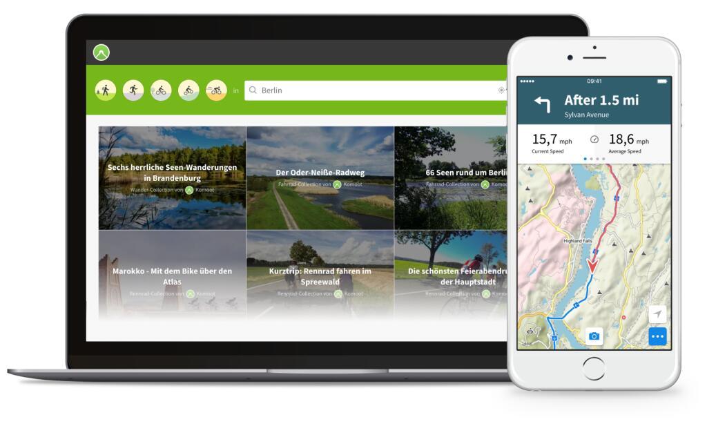 Komoot - Gratis regiopakket naar keuze voor nieuwe en bestaande klanten