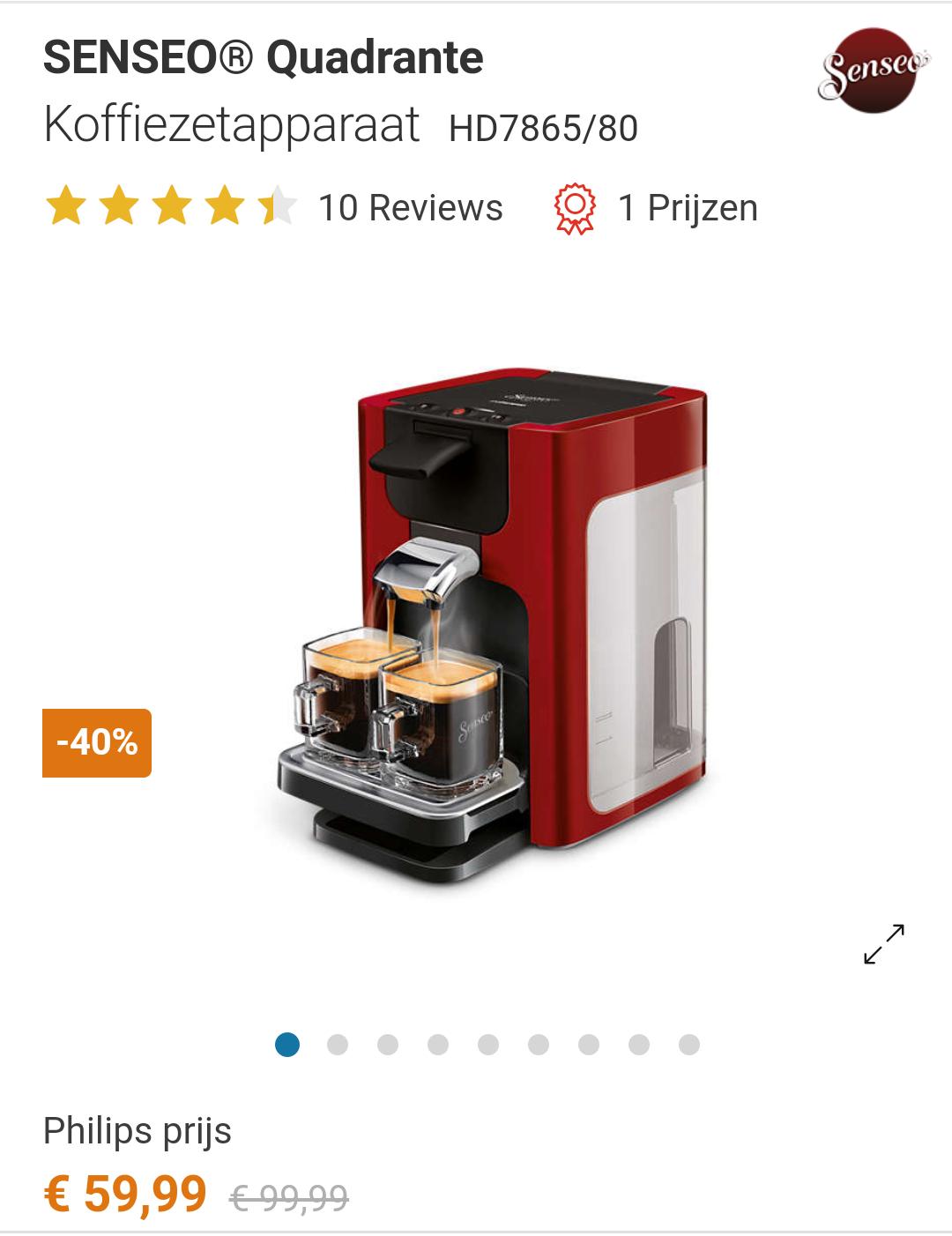Philips Senseo Quadrante HD7865/80 koffiezetapparaat @ Eurosparen