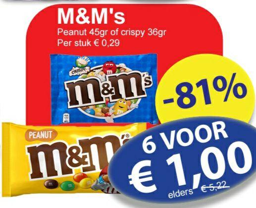 M&M's / Lion / Twix / Maltesers voor €1 @ Die Grenze