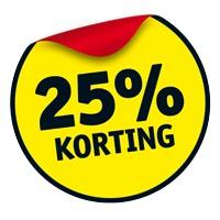 25% korting op alle fotoboeken + een voucher voor een dagje uit t.w.v. €10,- bij Kruidvat
