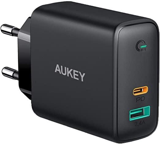 Aukey 60W USB-C PD lader met USB-C en USB-A poort