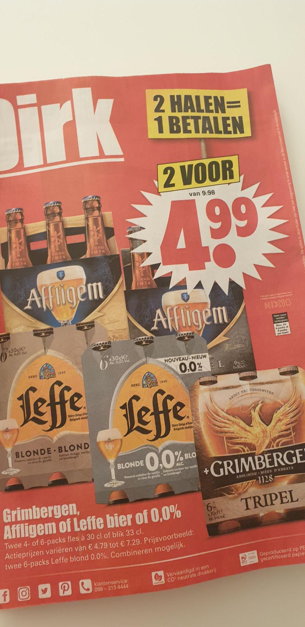 2=1 op Affligem, Leffe en Grimbergen bier @Dirk