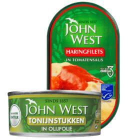 Alle John West Haring of Tonijnstukken: 2 blikjes voor €2,49 @ PLUS