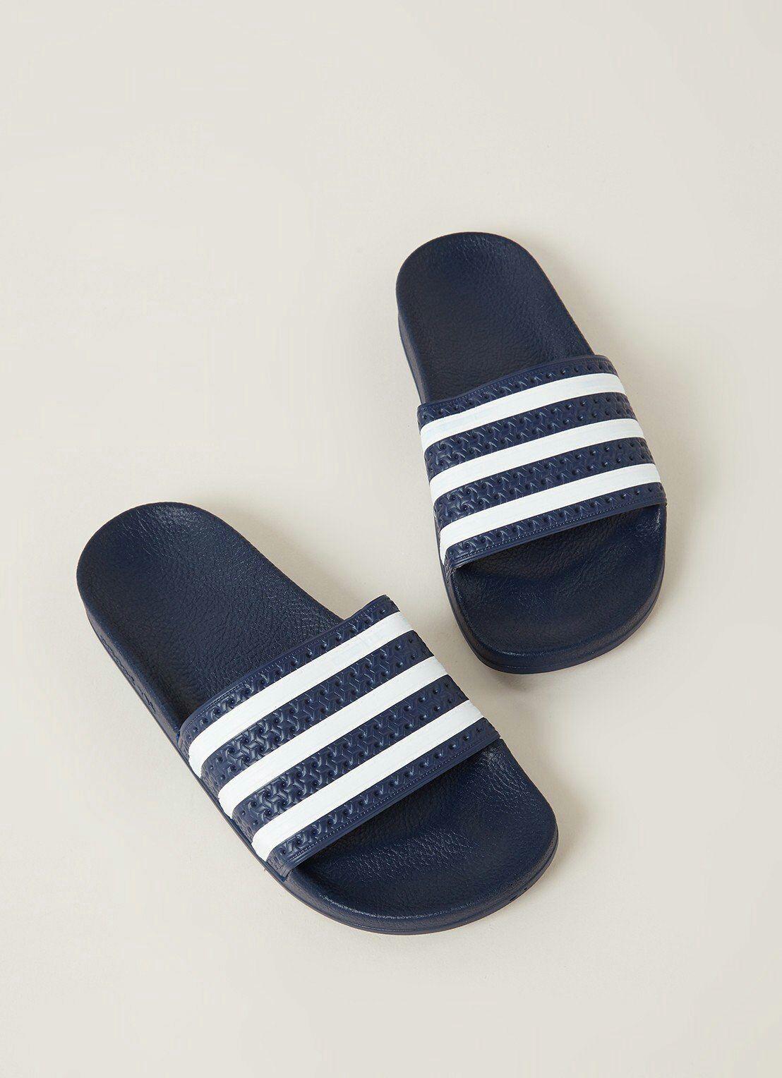 Adidas Adilette badslippers donkerblauw (maat 36) @Bijenkorf