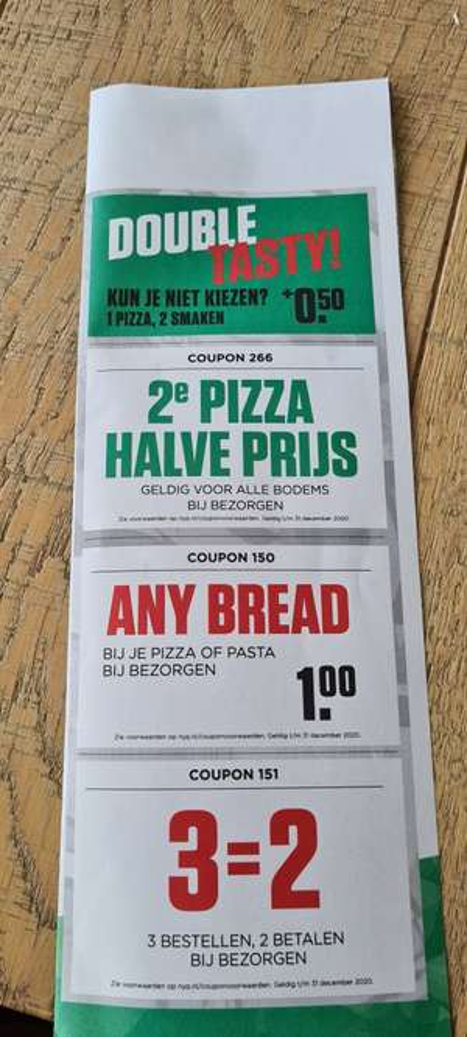 Coupons bij NY Pizza
