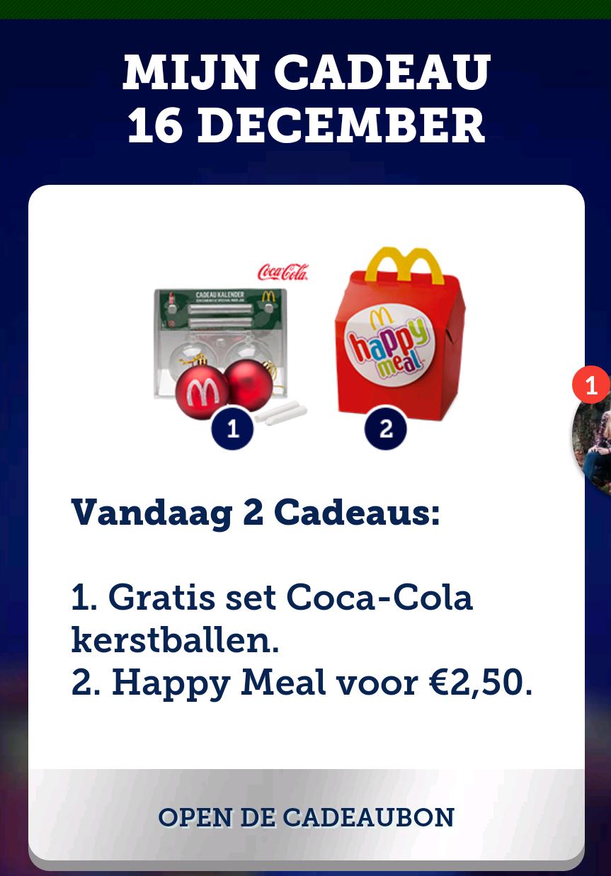 Gratis set Coca-Cola kerstballen @ McDonald's