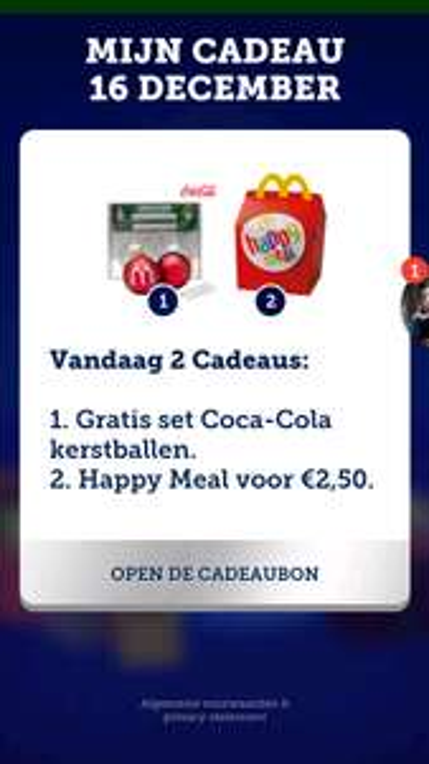 Happy Meal voor 2,50 @ McDonald's