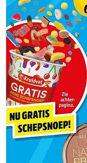 400 gram gratis schepsnoep bij 2 actieproducten @Kruidvat