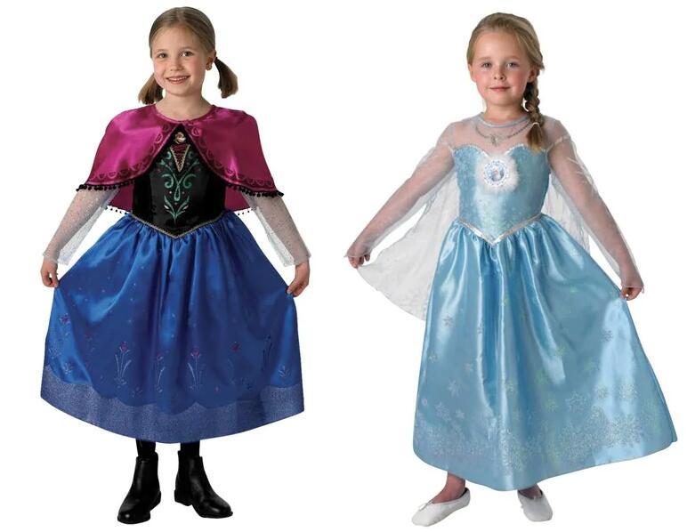 Frozen Anna of Elsa verkleedset maat 128-134 à €7,99 bij Kruidvat